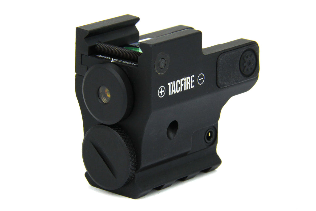 Tacfire Compact/Sub-Compact Pistol Low Temp Green Laser with Picatinny Rail & Pressure Switch (Gen 2)