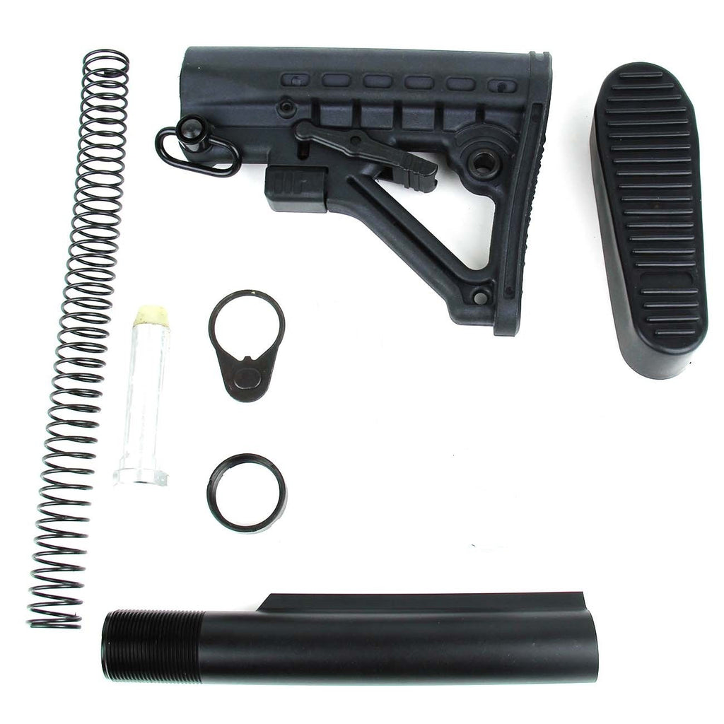 Tacfire AR15 Commerical Buffer Tube Kit with 6 Position Stock/Buttpad