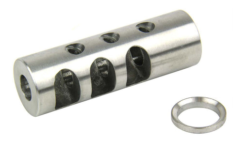 "Tacfire .223/.556 1/2""X28 Thread Full Size Muzzle Brake/Stainless Steel"