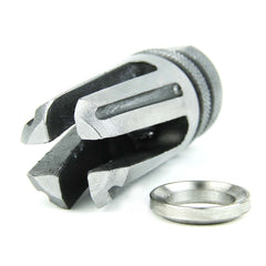 "Tacfire .223/.556 1/2""X28 Thread 4 Prong Twist/Stainless Steel"