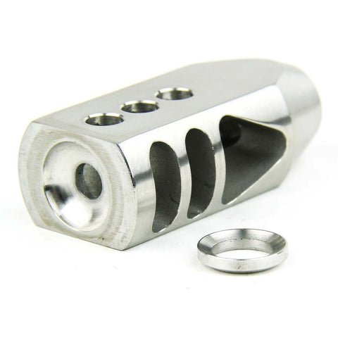 "Tacfire .223/.556 1/2""X28 Thread Tanker Style Muzzle Brake/Stainless Steel"