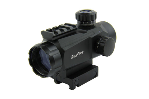 Tacfire 1X35 Dual Illumination Multi-Reticle Sight with Top Rail