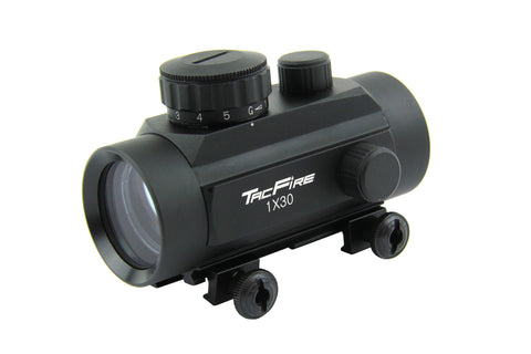 Tacfire 1X30 Dual Illumination Red Dot Sight with Flip-Up Lens