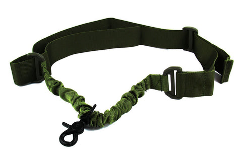 Tacfire Single Point Bungee Rifle Sling/OD Green