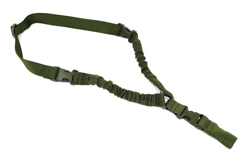 Tacfire One Point Bungee Rifle Sling/OD Green