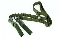 Tacfire 2 to 1 Point Double Bungee Rifle Sling/OD Green