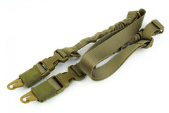 Tacfire 2 to 1 Point Double Bungee Rifle Sling/Tan