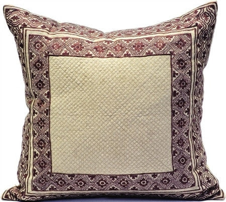 Purple- Natural Linen/Plum Pillow - CITY LIFE CATALOG