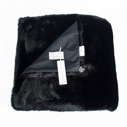 Faux Fur Throw, Black Noir by Evelyne Prelonge - GDH | The decorators department Store