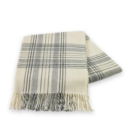 Havana Plaid Lambswool - Cotton Blend Throw - GDH | The decorators department Store