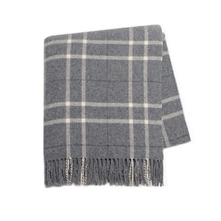 Gray Plaid Cashmere Throw - GDH | The decorators department Store