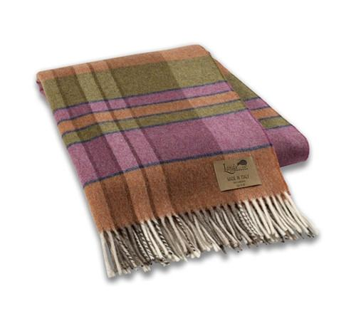 Orchid Vintage Plaid Lambswool Throw - GDH | The decorators department Store