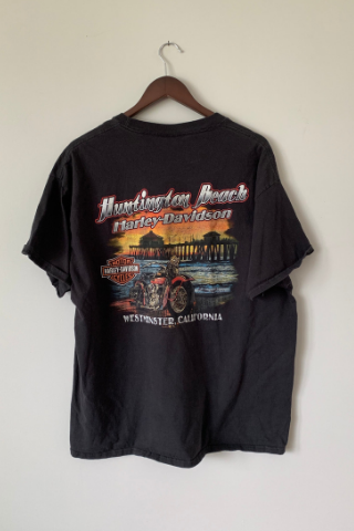 Vintage 'Huntington Beach' Harley T-Shirt Vintage, Shop Serendipity Ave, Shop Serendipity Ave  - Shop Serendipity Ave