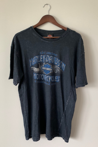 Vintage 'Blue Pigtrail' Harley T-Shirt Vintage, Shop Serendipity Ave, Shop Serendipity Ave  - Shop Serendipity Ave