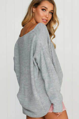 Dreamer Knit - Grey - Lucky Last S/M Tops, Shop Serendipity Ave , Shop Serendipity Ave  - Shop Serendipity Ave
