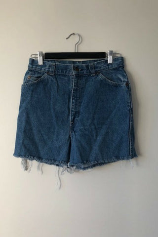 Vintage Levi's 'Dark Mid' Denim Shorts Vintage, Shop Serendipity Ave, Shop Serendipity Ave  - Shop Serendipity Ave