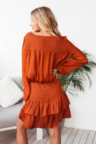Ruby Rust Dress DRESS, Shop Serendipity Ave , Shop Serendipity Ave  - Shop Serendipity Ave
