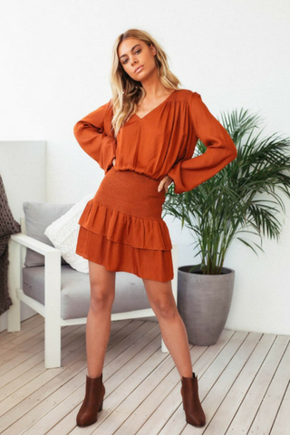 Ruby Rust Dress - Lucky Last Size 8 DRESS, Shop Serendipity Ave , Shop Serendipity Ave  - Shop Serendipity Ave