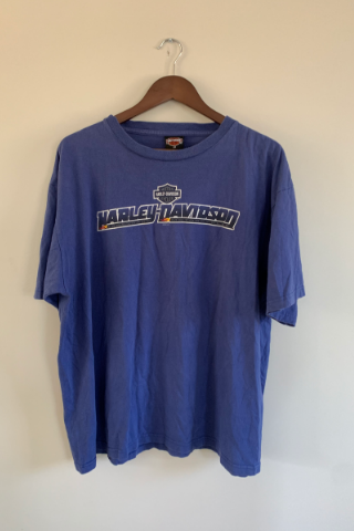 Vintage 'Orlando Blue'  Harley T-Shirt Vintage, Shop Serendipity Ave, Shop Serendipity Ave  - Shop Serendipity Ave