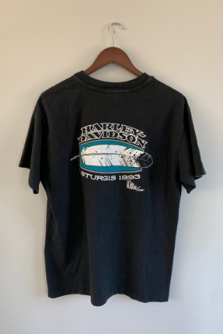 Vintage 'Feather Sturgis 1993'  Harley T-Shirt Vintage, Shop Serendipity Ave, Shop Serendipity Ave  - Shop Serendipity Ave