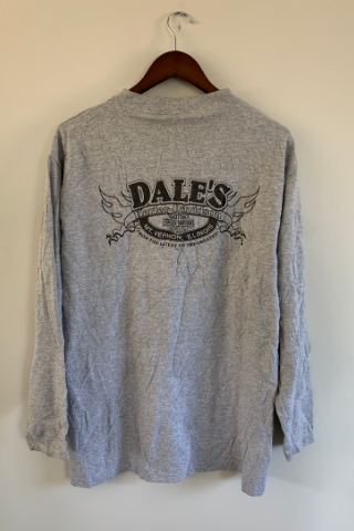 Vintage 'Dales' Long Sleeve Harley T-Shirt Vintage, Shop Serendipity Ave, Shop Serendipity Ave  - Shop Serendipity Ave