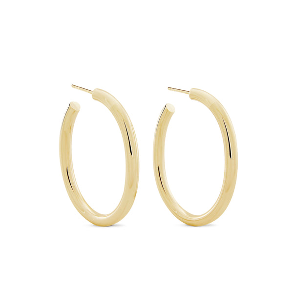 Oval Chubbies Hoops - Gold Vermeil Accessories, Shop Serendipity Ave x Monarc Jewellery, Shop Serendipity Ave  - Shop Serendipity Ave