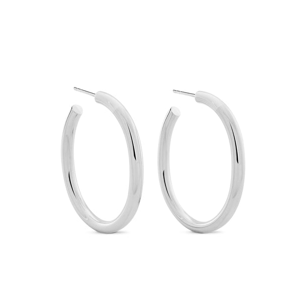 Oval Chubbies Hoops - Sterling Silver Accessories, Shop Serendipity Ave x Monarc Jewellery, Shop Serendipity Ave  - Shop Serendipity Ave