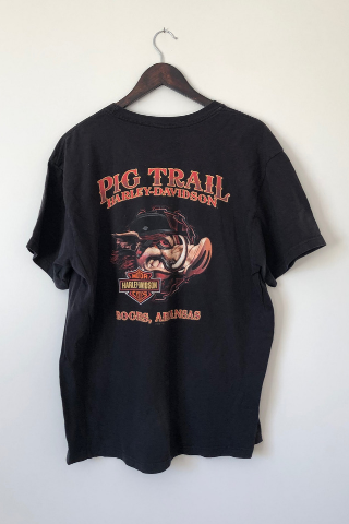 Vintage 'Red Pig Trail' Harley T-Shirt Vintage, Shop Serendipity Ave, Shop Serendipity Ave  - Shop Serendipity Ave