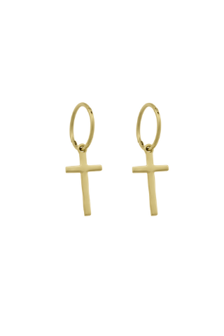 Georgie Cross Hoop - Gold Vermeil Accessories, Shop Serendipity Ave x Monarc Jewellery, Shop Serendipity Ave  - Shop Serendipity Ave