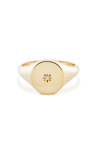 Starlet Signet Ring - Gold Vermeil Accessories, Shop Serendipity Ave x Monarc Jewellery, Shop Serendipity Ave  - Shop Serendipity Ave