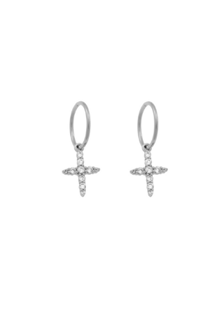 Endless Northen Star Cross Hoops - Sterling Silver Accessories, Shop Serendipity Ave x Monarc Jewellery, Shop Serendipity Ave  - Shop Serendipity Ave