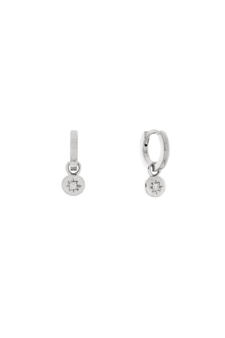 Starlet Charm Hoop Earrings - Sterling Silver Accessories, Shop Serendipity Ave x Monarc Jewellery, Shop Serendipity Ave  - Shop Serendipity Ave