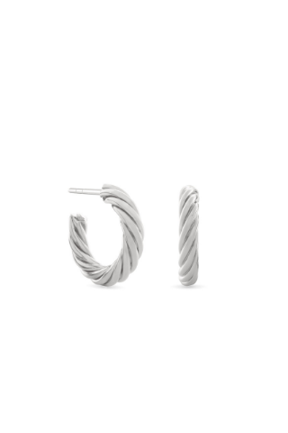 Twisted Sister Hoop Earrings - Sterling Silver Accessories, Noemie, Shop Serendipity Ave  - Shop Serendipity Ave