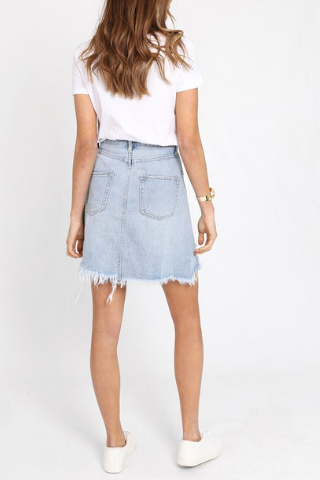 St. Kilda Denim Skirt - Lucky Last Size 6 Bottoms, Shop Serendipity Ave , Shop Serendipity Ave  - Shop Serendipity Ave