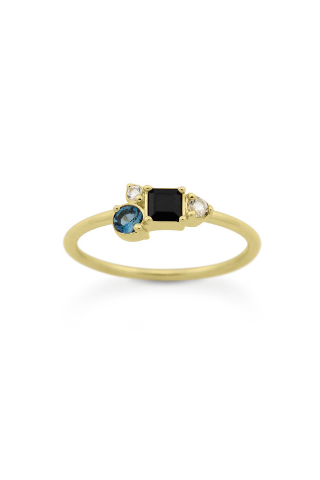 Midnight Cluster Ring - Gold Vermeil Accessories, Shop Serendipity Ave x Monarc Jewellery, Shop Serendipity Ave  - Shop Serendipity Ave