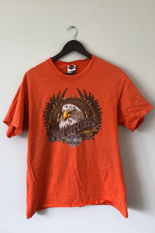 Vintage 'Orange Eagle' Harley Davidson T-Shirt Vintage, Shop Serendipity Ave, Shop Serendipity Ave  - Shop Serendipity Ave