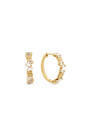 Nevada Hoop Earrings - Gold Vermeil Accessories, Noemie, Shop Serendipity Ave  - Shop Serendipity Ave
