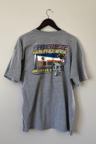 Vintage 'Grey Frieze' Harley Davidson T-Shirt Vintage, Shop Serendipity Ave, Shop Serendipity Ave  - Shop Serendipity Ave
