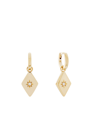 Kite Charm Hoop Earrings - Gold Vermeil Accessories, Shop Serendipity Ave x Monarc Jewellery, Shop Serendipity Ave  - Shop Serendipity Ave