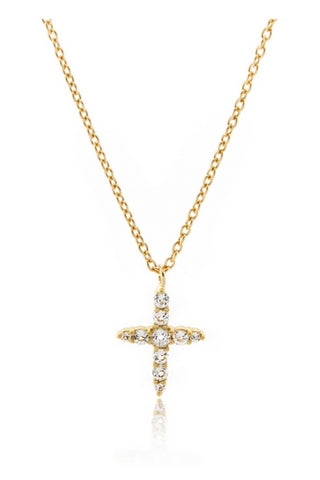 Northern Star Cross Necklace - Gold Vermeil & White Topaz - Lucky Last Accessories, Shop Serendipity Ave x Monarc Jewellery, Shop Serendipity Ave  - Shop Serendipity Ave