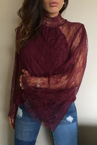 Fire And Desire Blouse - Lace - Lucky Last Tops, Shop Serendipity Ave, Shop Serendipity Ave  - Shop Serendipity Ave