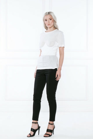 white corset and tee by delphine the label on fashion boutique shop serendipity ave