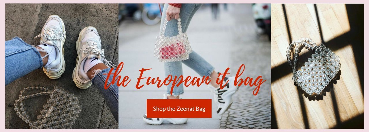 Shop Serendipity Ave Online Boutique New Zealand Beaded transparent glass bag