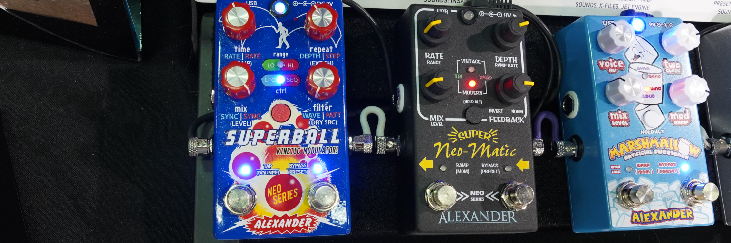 Alexander Pedals Superball & Super Neo-Matic | Winter NAMM 2020 | The Sound Parcel