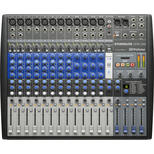 PreSonus StudioLive AR16 USB 18-Channel Hybrid Performance and Recording Mixer
