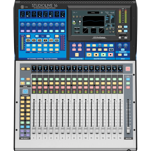 PreSonus StudioLive® 16 (III Series) 24-Input Digital Console/Recorder with Motorized Faders