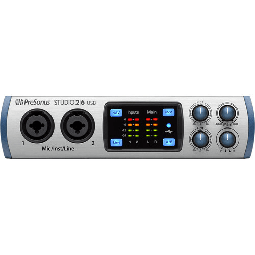 PreSonus Studio 26 USB Audio Interface with 2 XMAX-L Preamps