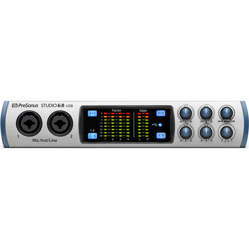 PreSonus Studio 68 USB Audio Interface with 2 XMAX Preamps