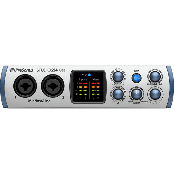 PreSonus Studio 2|4 Portable Ultra High-Definition USB-C Audio Interface