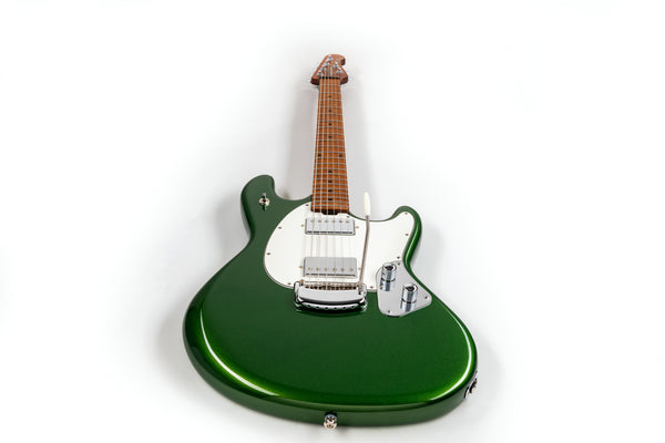 Ernie Ball Music Man StingRay RS - Charging Green with Figured Roasted Maple